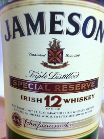121123アイリッシュウイスキー ジェムソン12年3.JPG